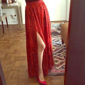 RACHEL ZOE red flamenco style skirt